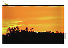Carry-all Pouch featuring the photograph Orange And Yellow Sky  by Lyle Crump