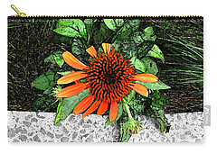 Carry-all Pouch featuring the photograph Orange At Highline Nyc by Joan  Minchak