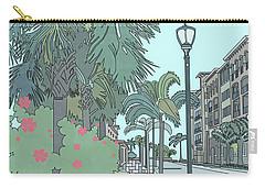 Carry-all Pouch featuring the digital art Orange Avenue by Megan Dirsa-DuBois