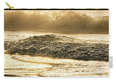 Carry-all Pouch featuring the photograph Orange Beach Sunrise With Wave by John McGraw