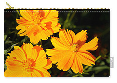 Carry-all Pouch featuring the photograph Cosmos Trio by Sheila Brown