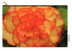 Orange Begonia Carry-all Pouch by Haleh Mahbod