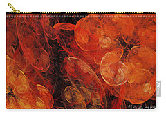 Carry-all Pouch featuring the digital art Orange Blossom Abstract by Andee Design