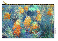 Carry-all Pouch featuring the photograph Orange Bonnets by Ellen O'Reilly