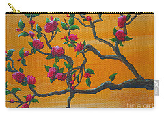 Orange Branch Carry-all Pouch