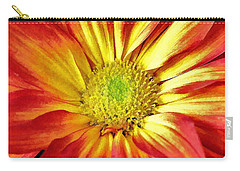 Carry-all Pouch featuring the photograph Orange Burst by Allen Beatty