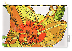 Orange Canna Lily Carry-all Pouch