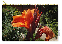 Orange Canna Lily Carry-all Pouch by Rod Ismay