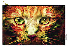 Orange Cat Art - Feed Me Carry-all Pouch