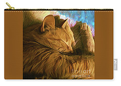 Orange Cat Sleepy Time Carry-all Pouch