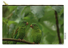 Orange-chinned Parakeets-  Carry-all Pouch