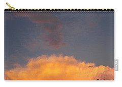 Orange Cloud With Grey Puffs Carry-all Pouch by Don Koester