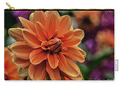 Orange Dahlias Carry-all Pouch