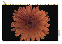 Orange Daisy Front Carry-all Pouch
