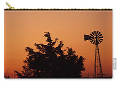 Orange Dawn With Windmill Carry-all Pouch