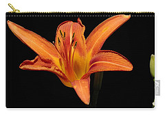 Orange Day-lily Carry-all Pouch