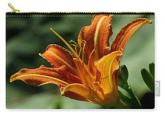 Orange Daylily Carry-all Pouch by John Topman