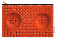 Orange Dots Industrial Portrait Carry-all Pouch by Tony Grider
