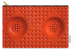 Orange Dots Industrial Portrait Carry-all Pouch