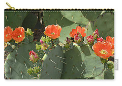 Orange Dream Cactus Carry-all Pouch