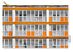 Orange Exterior Decoration Details Of Modern Flats Carry-all Pouch