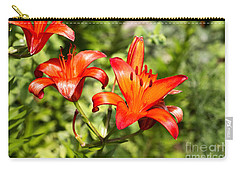 Carry-all Pouch featuring the photograph Orange Fire by Rebecca Davis