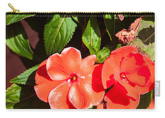 Orange Flower Carry-all Pouch by James Gay