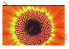 Orange Flower Macro Carry-all Pouch