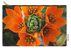 Orange Flower Zoom Carry-all Pouch