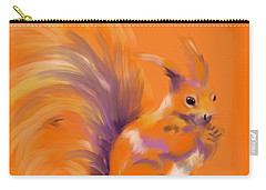 Orange Forest Squirrel Carry-all Pouch by Go Van Kampen