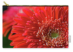 Carry-all Pouch featuring the photograph Orange Gerbera by Clare Bambers