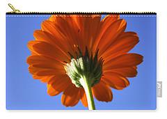 Orange Gerbera Flower Carry-all Pouch by Ralph A  Ledergerber-Photography