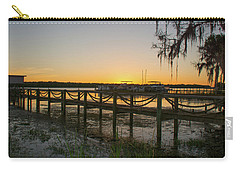 Florida - St Johns River Sunset Carry-all Pouch by John Black