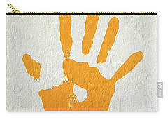 Orange Handprint On A Wall Carry-all Pouch