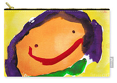 Orange Happy Face Carry-all Pouch