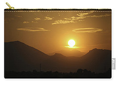 Carry-all Pouch featuring the photograph Golden Sunset by Marilyn Hunt