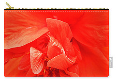 Carry-all Pouch featuring the photograph Orange Hibiscus by Cathy Donohoue