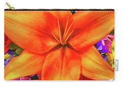 Carry-all Pouch featuring the painting Orange Lilly Art by Deborah Benoit