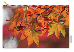 Carry-all Pouch featuring the photograph Orange Maple Leaves by Clare Bambers