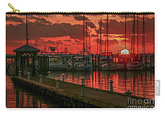 Orange Marina Sunrise Carry-all Pouch