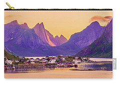 Carry-all Pouch featuring the photograph Orange Night In A Harbour by Dmytro Korol