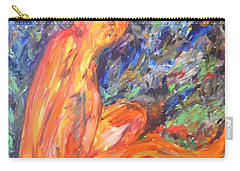 Carry-all Pouch featuring the painting Orange Nymph by Esther Newman-Cohen