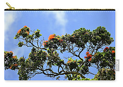 Orange Lehua On A Ranch In Volcano, Hawaii  Carry-all Pouch