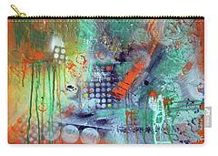 Orange Optimist Carry-all Pouch by Everette McMahan jr
