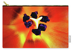 Carry-all Pouch featuring the photograph Orange Orchid by Kelly Mills