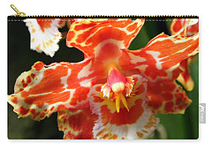 Orange Orchid Carry-all Pouch