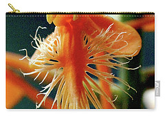 Fringed Orange Orchid Carry-all Pouch