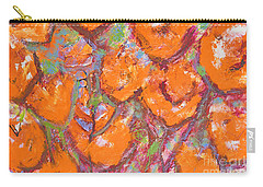 Orange Poppies Carry-all Pouch by Gallery Messina