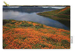 Orange Poppy Fields At Diamond Lake In California Carry-all Pouch by Jetson Nguyen