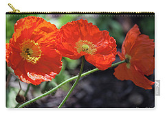 Orange Poppy Triplet Carry-all Pouch